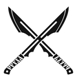 Japanese Tanto daggersicon simple style vector image vector image