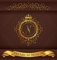Letter N Luxury Logo template flourishes vector image