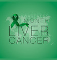 liver cancer awareness calligraphy poster design vector image
