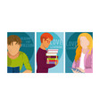 love learning and reading design vector image vector image