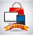 low prices vector image vector image