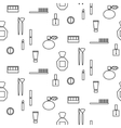 Makeup objects and products seamless pattern vector image vector image