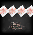 merry christmas card invitation greetings 2019 vector image vector image