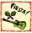 mexican fiesta party invitation with maracas vector image vector image