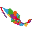 Mexico map vector image vector image