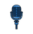 microphone sound music equipment icon vector image