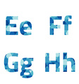 Modern Style Blue Alphabets Set vector image vector image