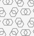 Perforated paper with hexagons forming infinity vector image vector image