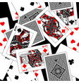 playing cards seamless pattern background in vector image