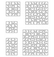 puzzles separate pieces vector image