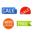 Sale labels stickers Shopping tags banners vector image