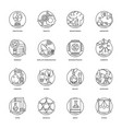 science and technology line icons set vector image vector image