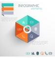 set abstract 3d paper infographic elements vector image