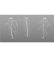 set lightning bolts on transparent background vector image vector image