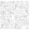 set seamless patterns with sweets vector image vector image