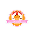 sign for candy shop vector image