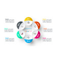 six circles with business icon infographics vector image vector image