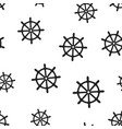 steering wheel rudder icon seamless pattern vector image