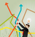 Stock market concept vector image vector image