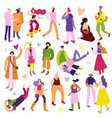 street fashion icons set vector image