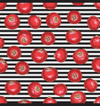 striped seamless pattern with cranberry vector image