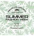Summer fashion week flyer vector image vector image