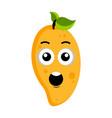 surprised peach emoticon vector image vector image