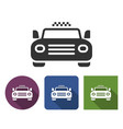 taxi icon in different variants with long shadow vector image