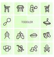 toddler icons vector image vector image