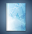 Triangular structure concept folder template vector image