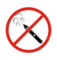 vaping icons no vaping no smoking sign no vector image