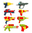 water guns weapons toys for childrens vector image vector image