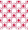 Watercolor seamless pattern with house in fire on vector image