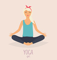 Woman in poses of yoga Healthy lifestyle vector image