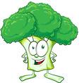 fun broccoli cartoon vector image