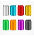 Color Cans Set vector image
