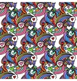 Colorful Zentangle Seamless Pattern vector image