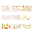 Scrapbook Design Elements Birthday Party Set vector image