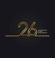 26 years anniversary vector image vector image