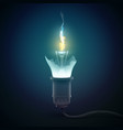 3d light bulb concept vector image vector image
