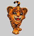 a smiling tiger cub is symbol of the year 2022 vector image vector image