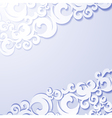 Applique paper vintage background vector image vector image