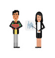 asian businesswoman showing financial diagram vector image vector image