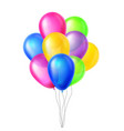 balloons in air big surprise group bunch vector image