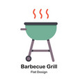 barbecue grill flat vector image