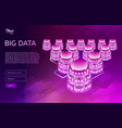 big data design concept isometric vector image