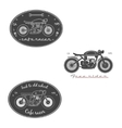 Big set of vintage motorcycle labels vector image