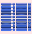 buttons blue many for website design vector image vector image