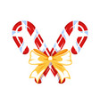 christmas candy isolated on a white background vector image