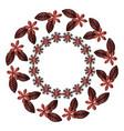 circular floral decorative frame vector image